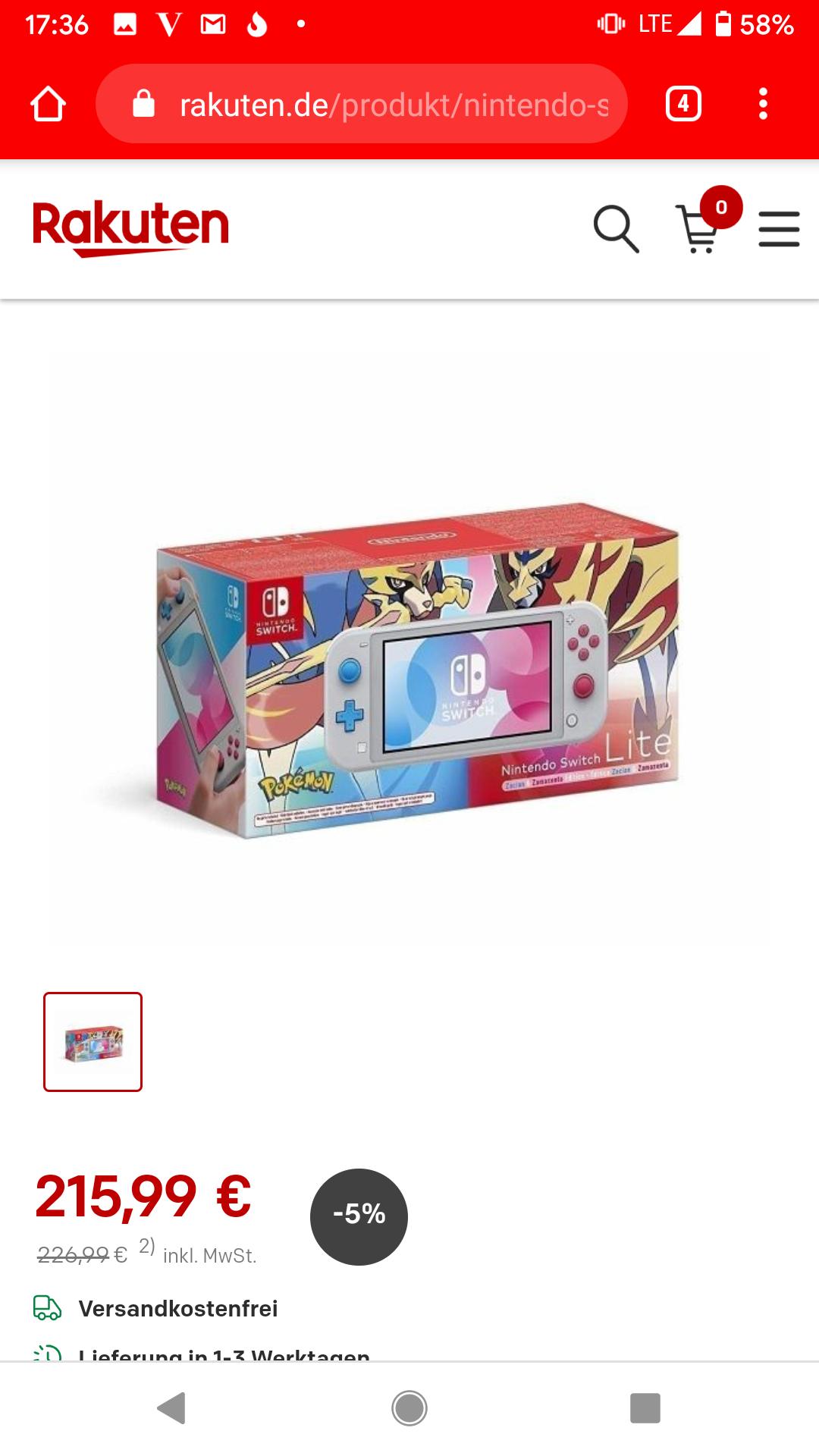 [Black Friday] Nintendo Switch Lite voor €186,15 excl. Verzending (alle uitvoeringen)