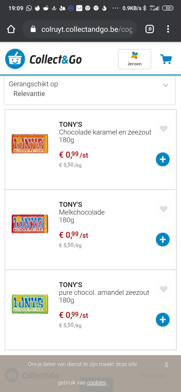 [BE lokaal ] Tony chocolonely 0,99 euro