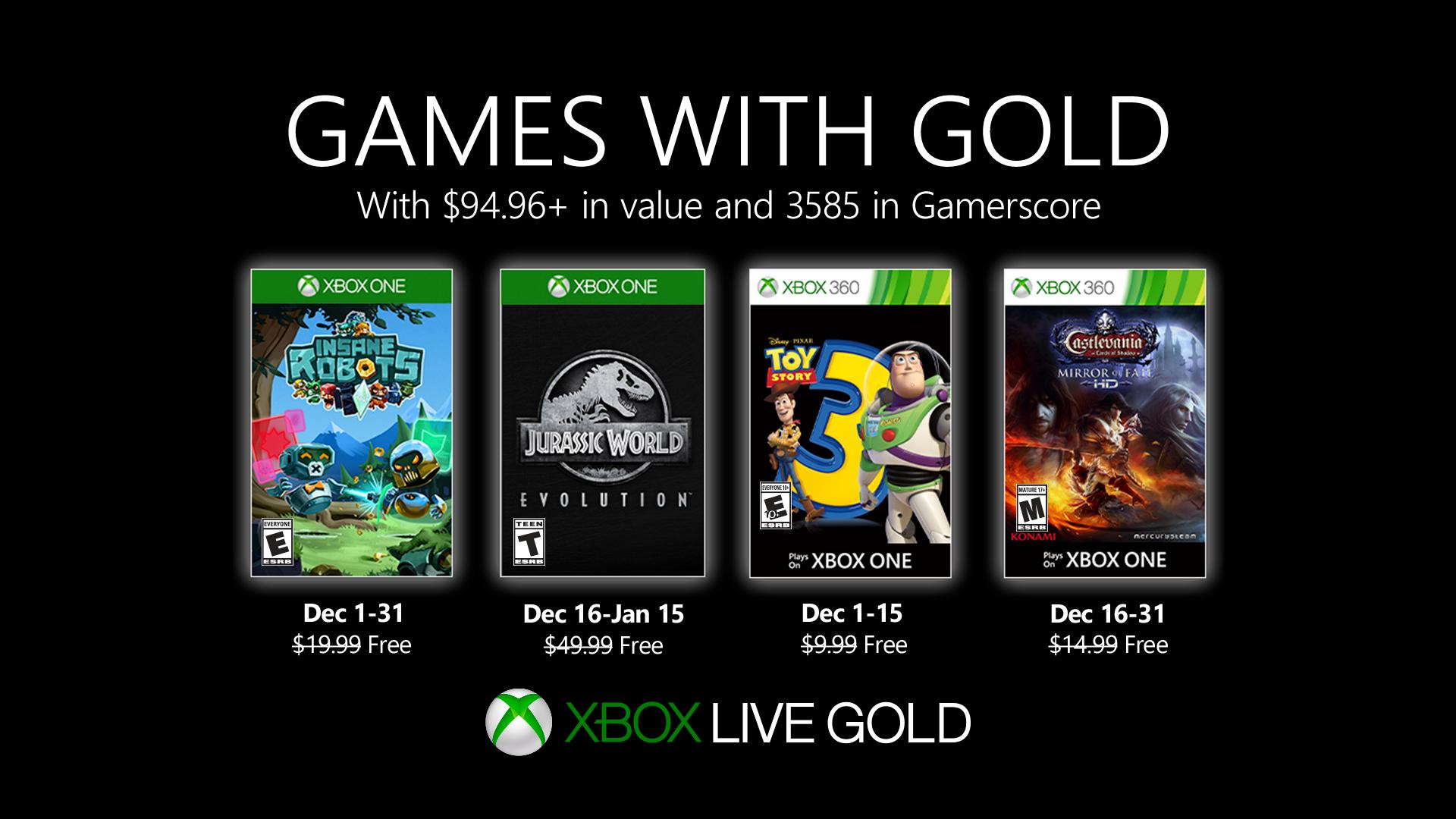 Games with Gold voor december