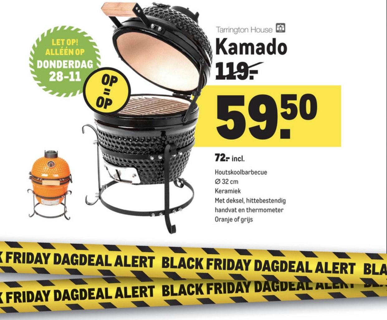 Black friday Makro deal Kamado 32cm voor 59,50 excl btw
