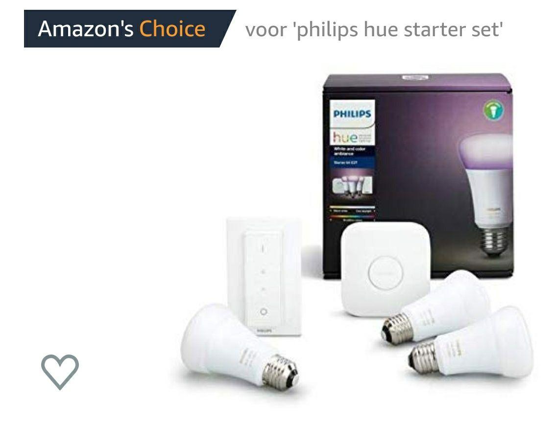 [Amazon Warehouse] Philips hue wit en kleur Ambiance E27 LED lamp starter set, drie lampen