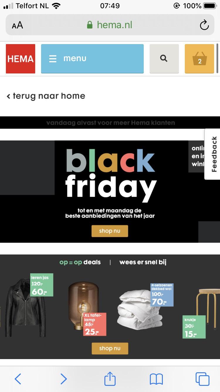 HEMA- Black Friday deals voor Meer Hema klanten