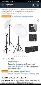 Esddi Photography Studio Kit White Umbrella