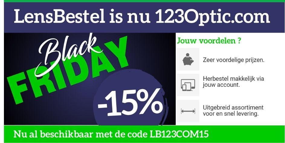 15% Black Friday korting op contactlenzen en toebehoren