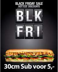 [Lokaal?] Subway Black Friday deal - Footlong (30cm) Sub: 5 euro