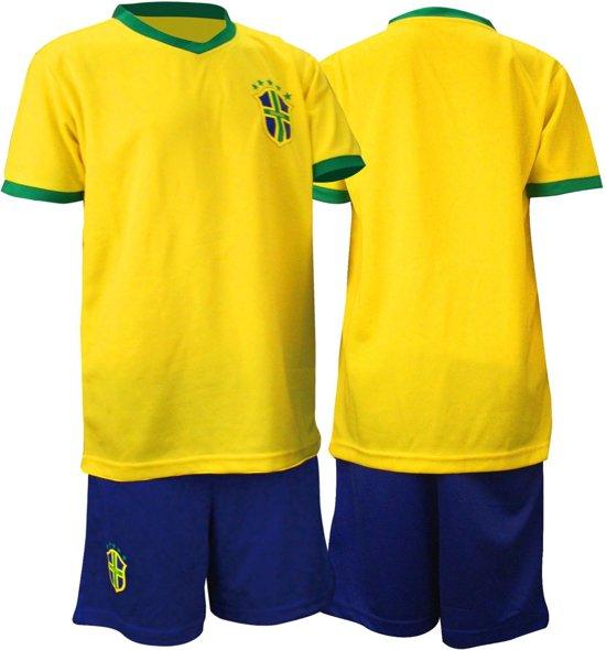 Brazilië Voetbalset Supporter Junior Geel/blauw Maat 92