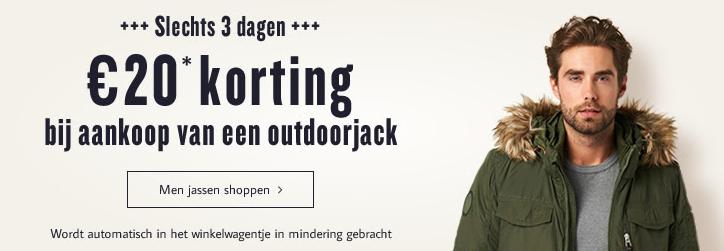 €20 korting op outdoorjacks, colberts en bodywarmers  @ Tom Tailor