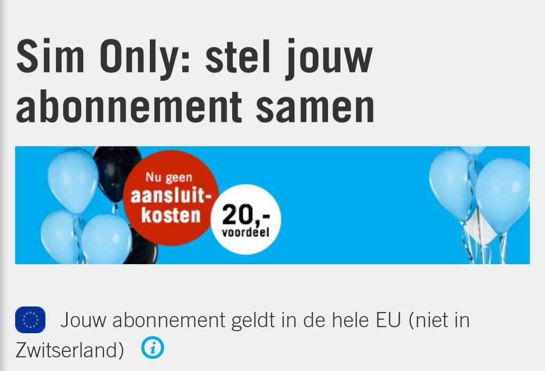 Nog een kleine 3 dagen GEEN AANSLUITKOSTEN: Gratis geld met Ben.nl abonnement!