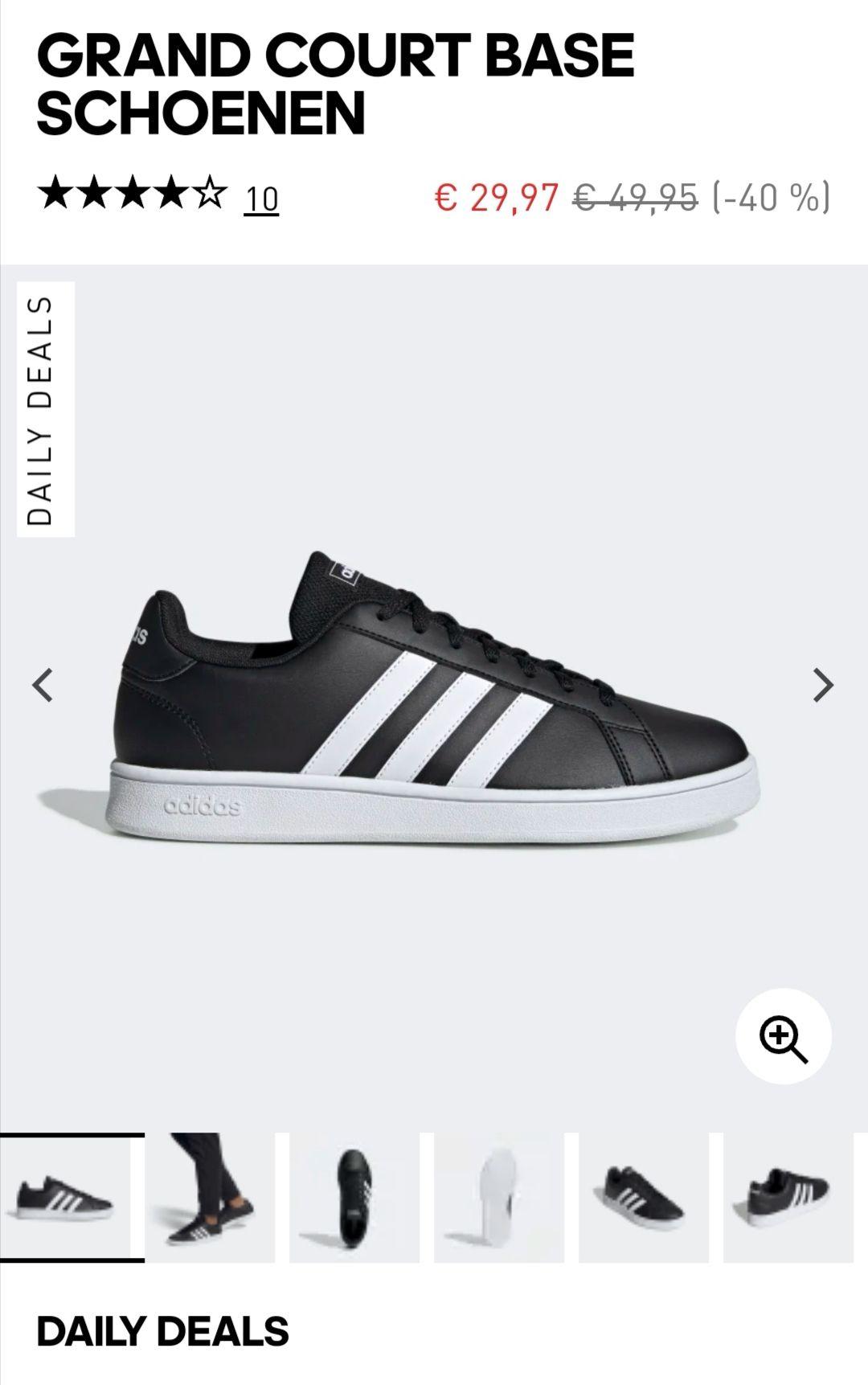 Adidas Grand Court Base schoenen zwart voor €22,97