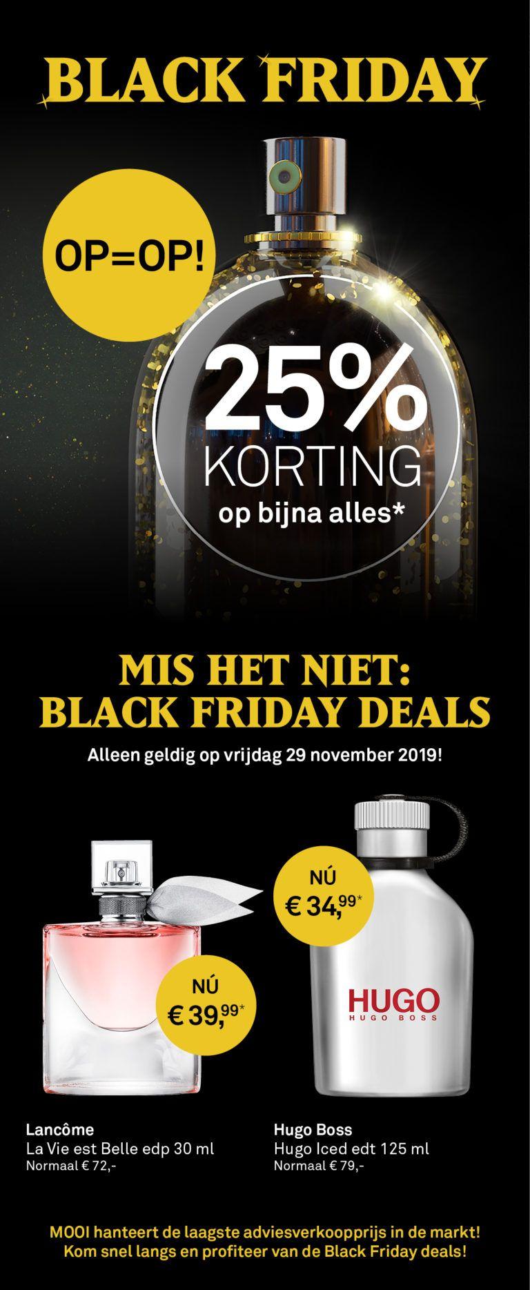 Black Friday | 25% korting op bijna alles bij Mooi Parfumerie