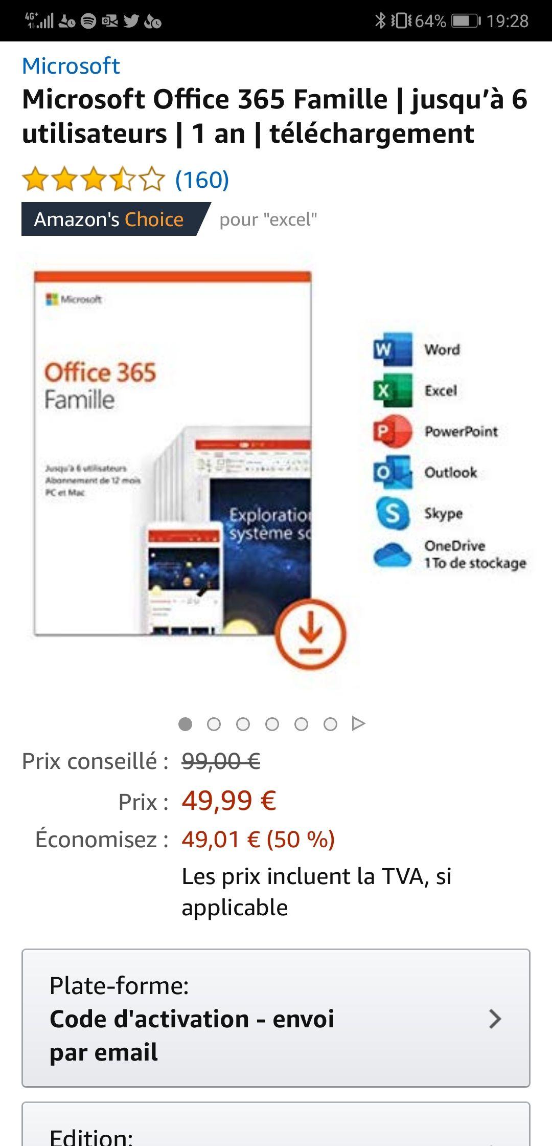 Office 365 Familie jaarabonnement (6 gebruikers) voor 49,99 ipv 99,99