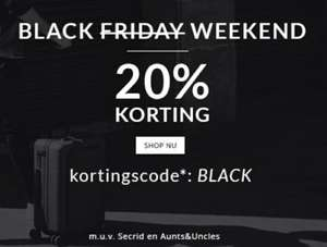 [Black Friday] 20% korting @Travelbags.nl