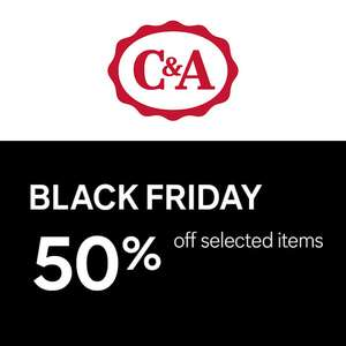 C&A Black Friday Sale: 50% korting op 4.000+ artikelen