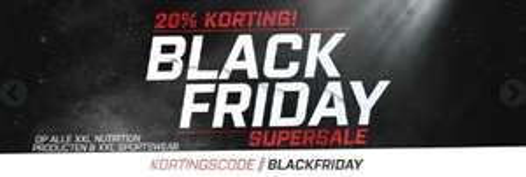 Black Friday: 20% korting op alles van het merk XXL Nutrition.