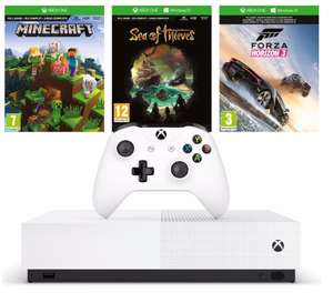 Xbox One S Console (1 TB) All Digital + Sea of Thieves + Minecraft + Forza Horizon 3 @ Amazon.de