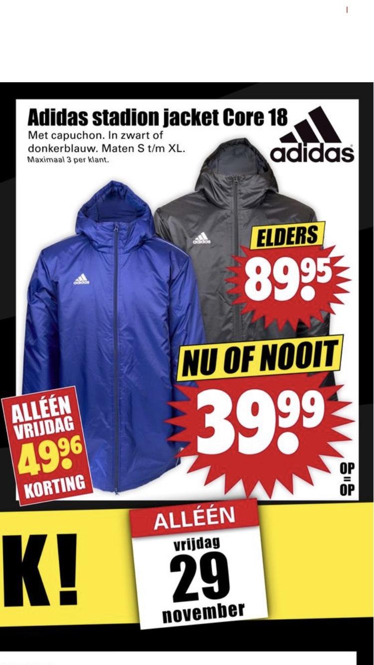 Adidas stadion jacket Core 18 @ Dirk