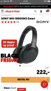 SONY WH-1000XM3 [MediaMarkt Black Friday Deal!]