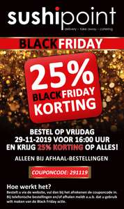 BLACK FRIDAY 25% afhaal deal bij SushiPoint