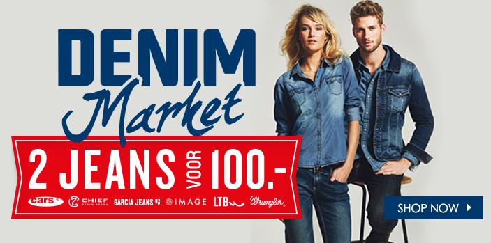 2 Jeans (LTB, Garcia, Wrangler en Cars) voor 100 euro @ JeansCentre