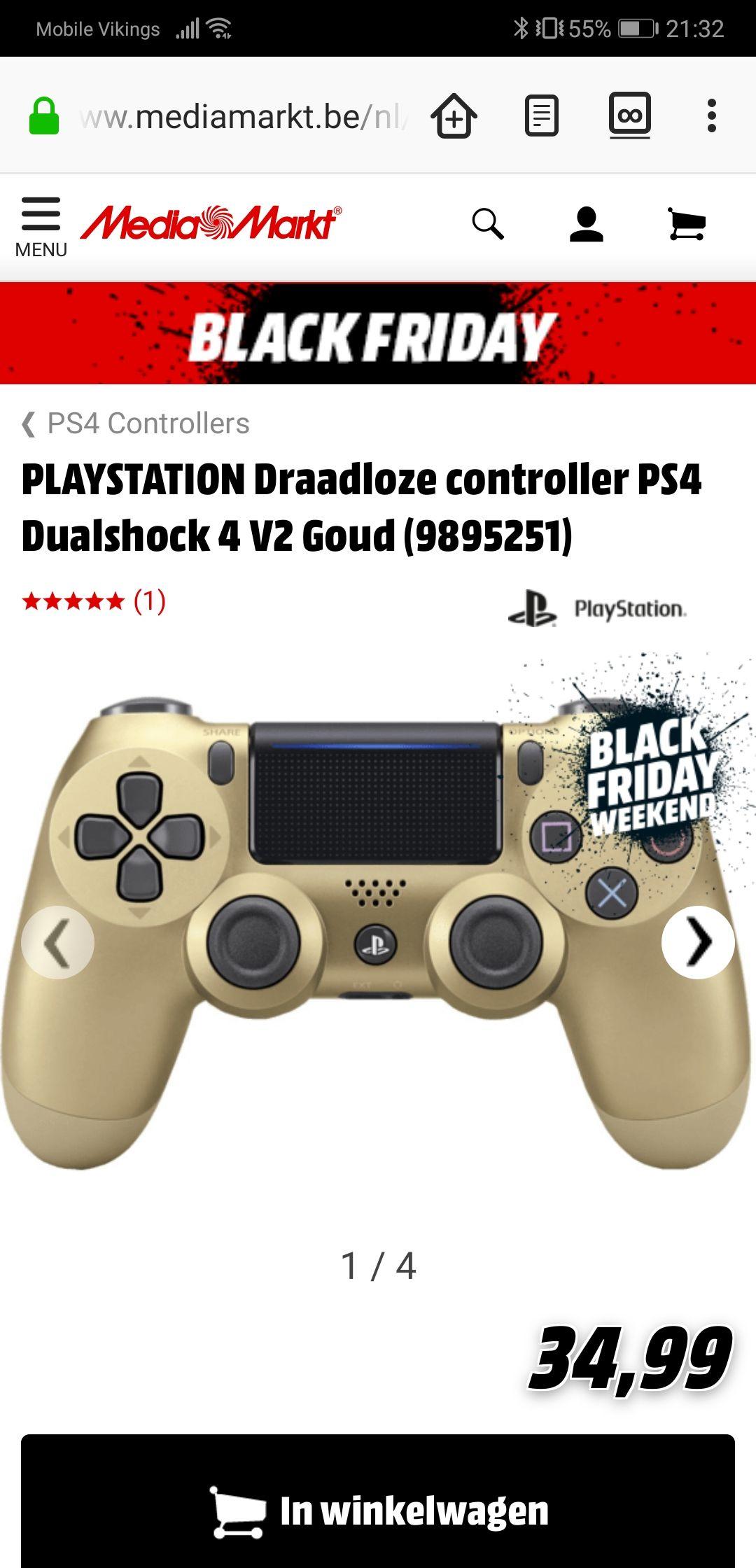 (BE) DualShock 4 v2 controller voor €35 Media Markt België (ook online)