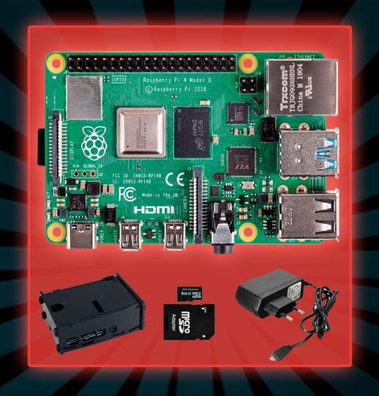 Raspberry Pi 4 - 4GB Compleet (Black Friday Kit)