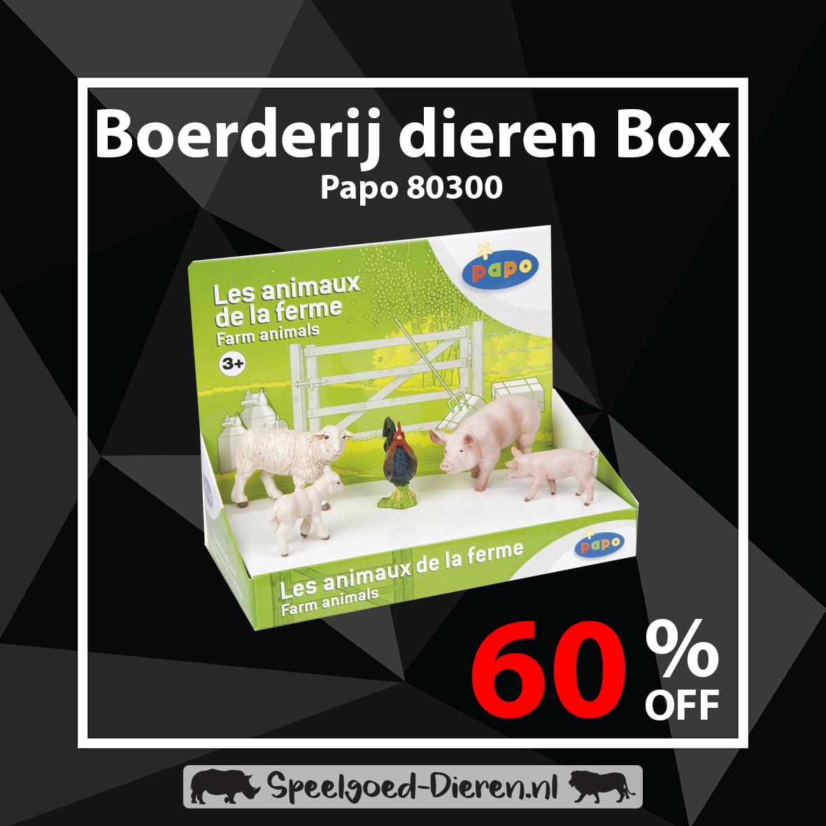 60% Korting op Papo Display boxen bij Speelgoed-Dieren.nl (9 verschillende sets)