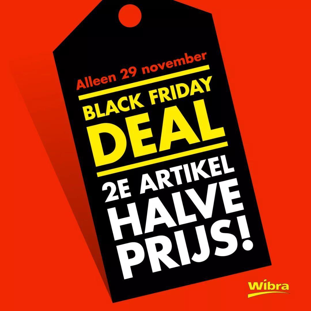 Wibra black friday 2e artikel halve prijs