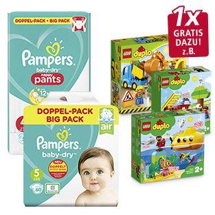 [GRENSDEAL] Pampers baby dry luiers of pants + gratis DUPLO set t.w.v. €19,99