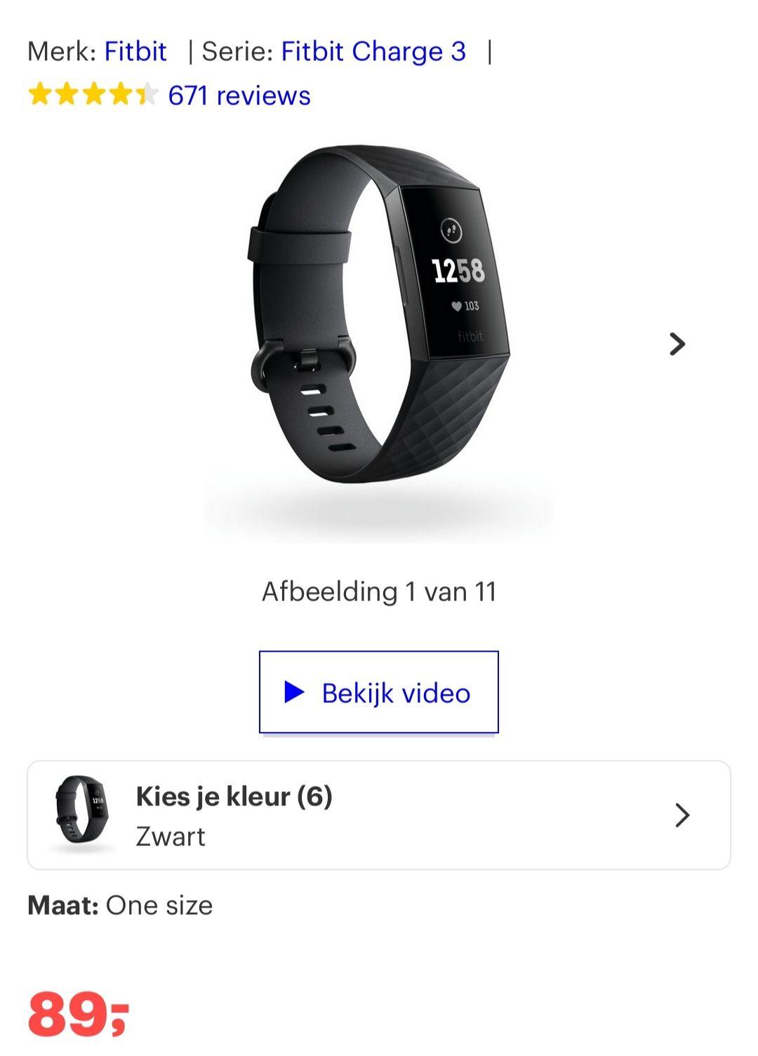 Fitbit charge 3 bij bol
