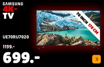 "Samsung 70"" HDR Smart 4K TV - UE70RU7020"