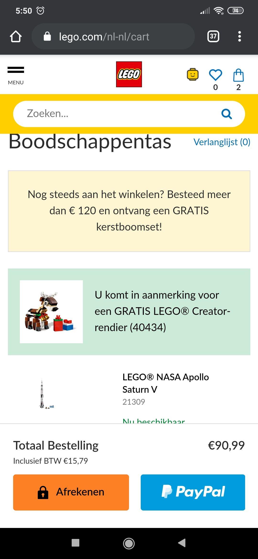 Code voor gratis Lego Polybag bij besteding vanaf 50 euro op Lego.nl