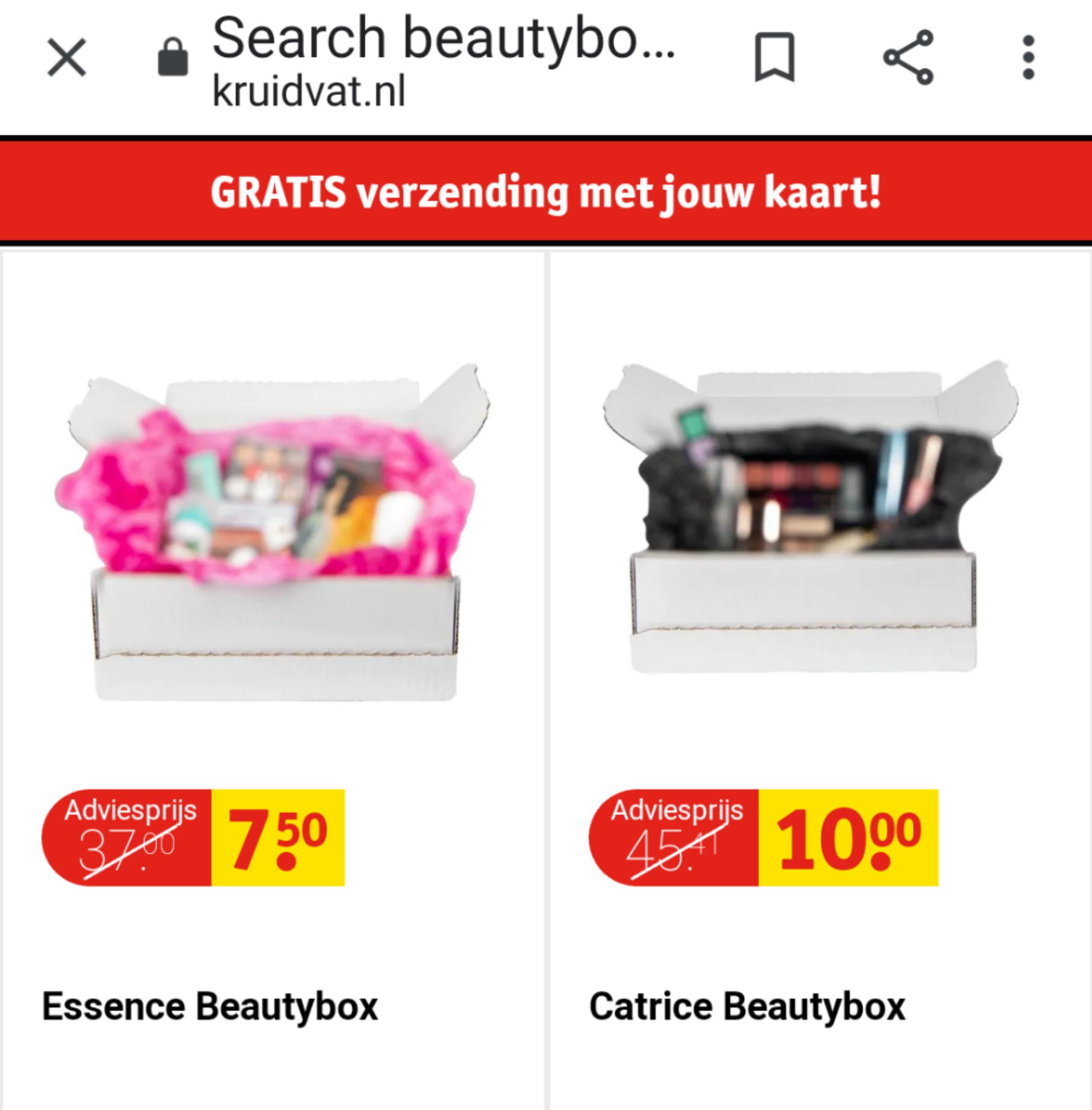 ESSENCE BEAUTYBOX 7,50 // CATRICE BEAUTYBOX 10 euro.
