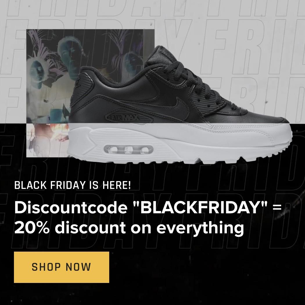[Black Friday] 20% korting op alles bij Sneakerdistrict