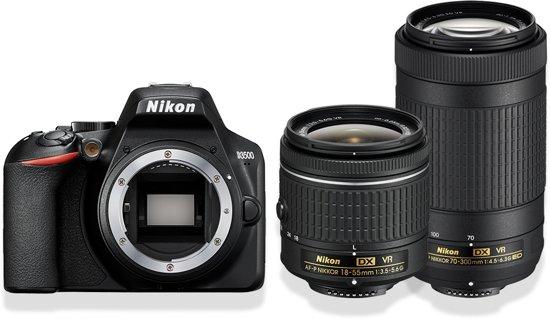 Nikon D3500 + 18-55mm f/3.5-5.6 + 70-300mm f/4.5-6.3 Zwart