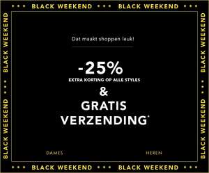 BF: 25% EXTRA korting + 10% EXTRA + gratis verzending t.w.v. €4,99 @ dress-for-less