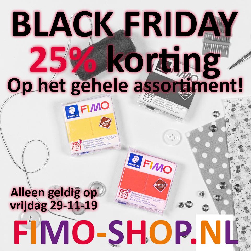 25% Korting op alles (Fimo Klei / Hobby Klei) ! bij Fimo-Shop.nl