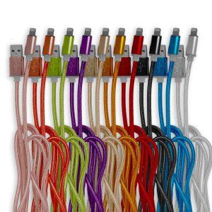 USB Lightning Kabel voor 2,95 - in 10 Kleuren voor