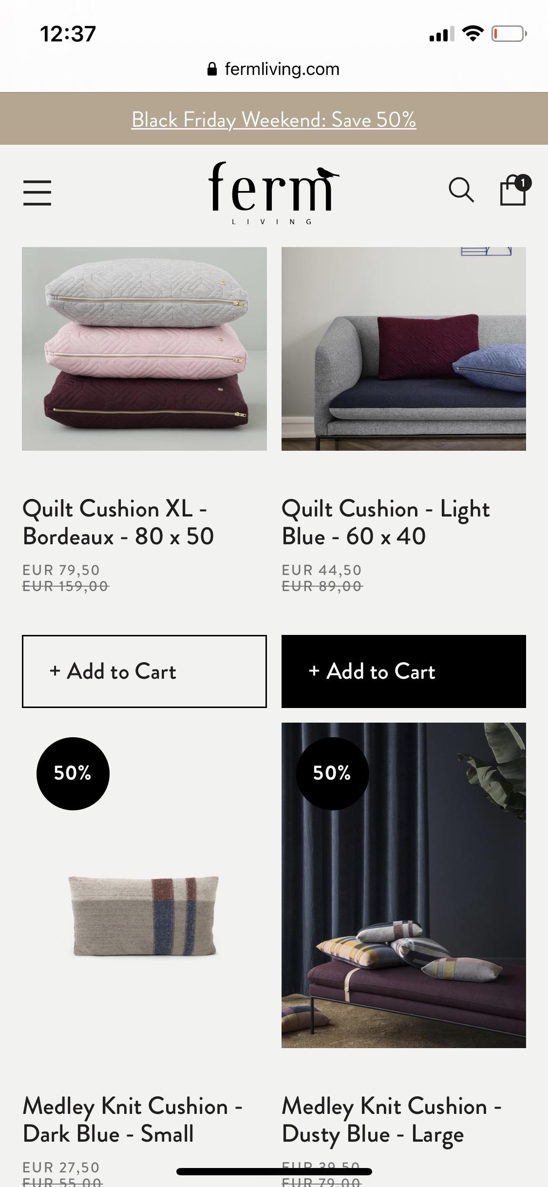 Ferm Living 50% korting op geselecteerde items