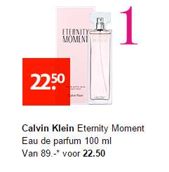CK Eternity Moment Eau de Parfum 100 ml €22,50 @ Etos