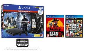 PS4 Slim + 5 top games