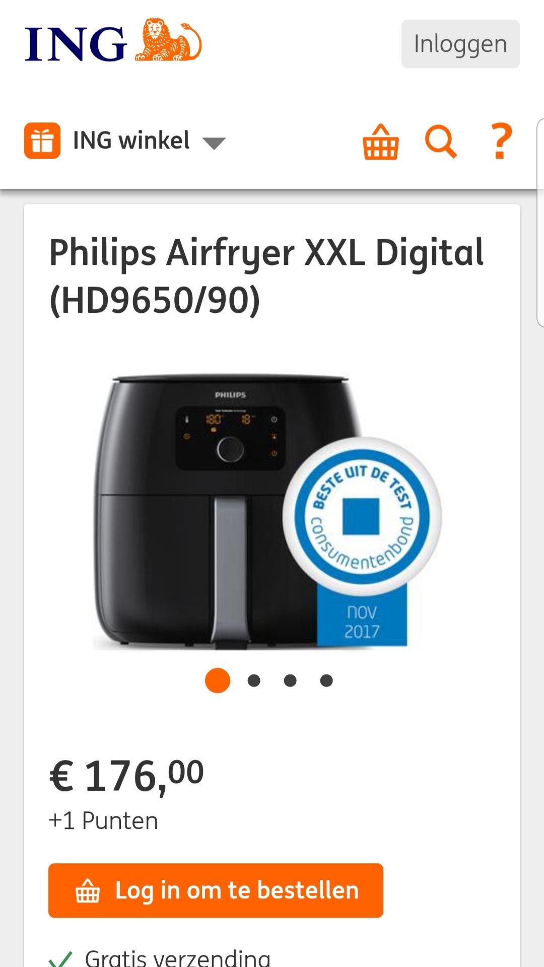Philips airfryer XXL ING Rentepuntenshop