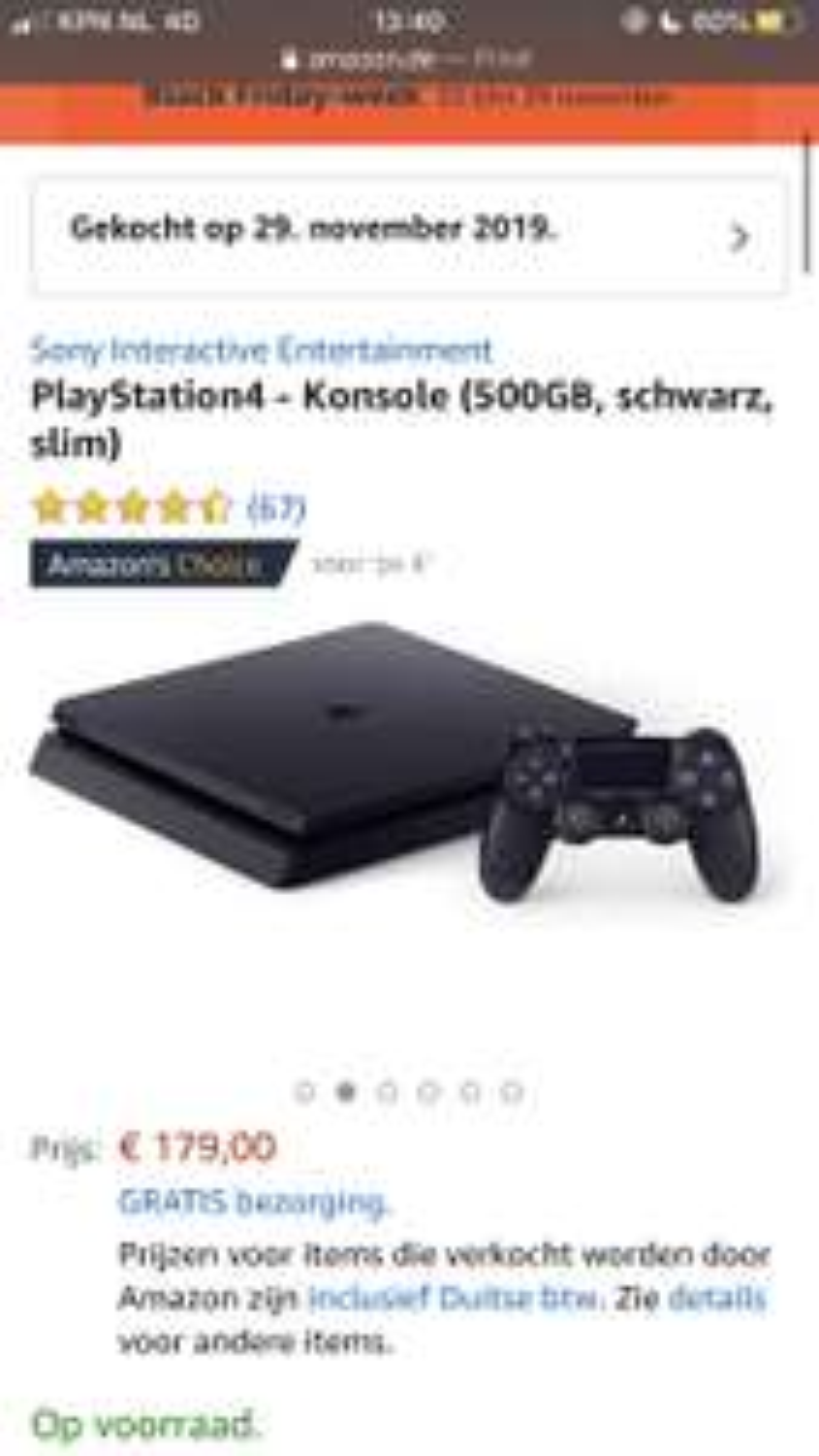 PS4 Slim 500GB @ Amazon.de