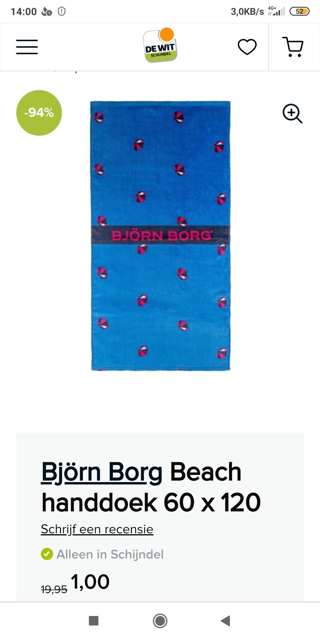 Bjorn Borg beach handdoek