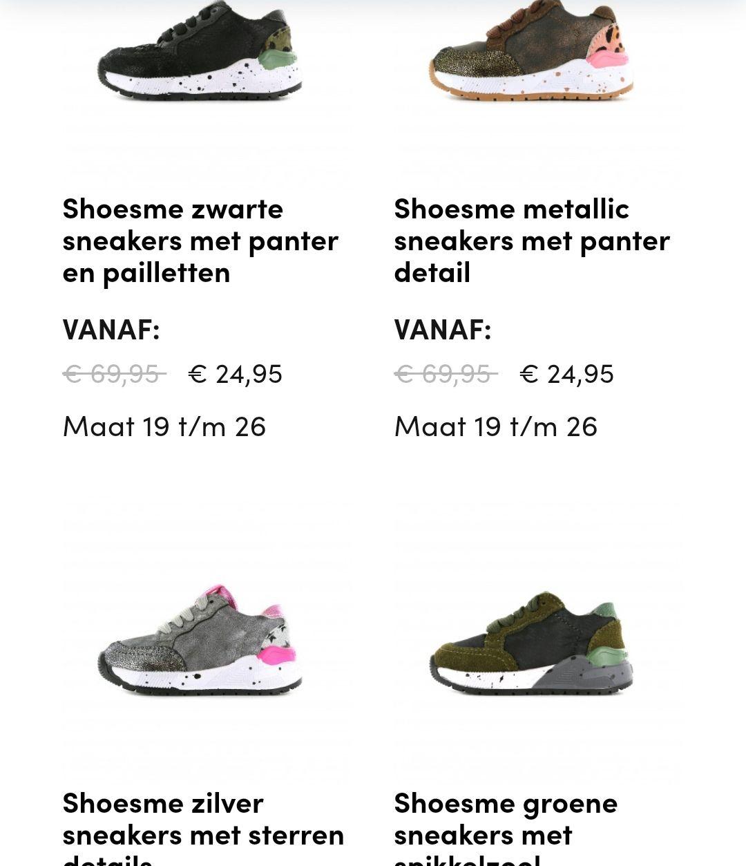 Shoesme schoenen maat 19-26