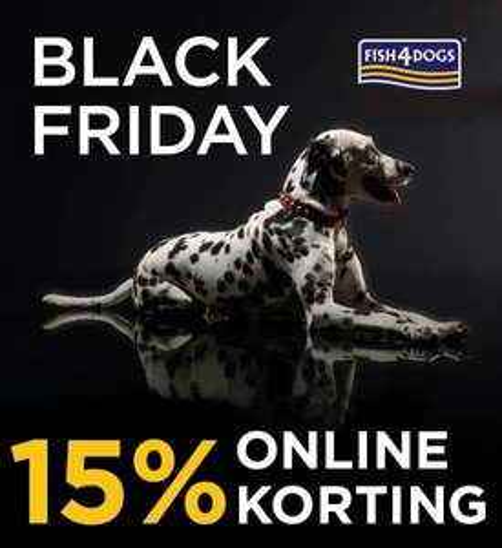 Bij Fish4Dogs nu 15% Black Friday korting, gratis verzending + 20% nieuwe klant korting