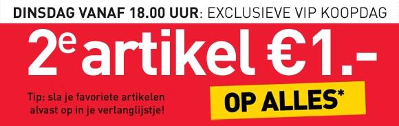Vandaag vanaf 18.00 uur VIP koopdag met 2e artikel voor 1 euro @ Scapino