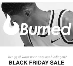 Burned black friday sale 15% korting op alles