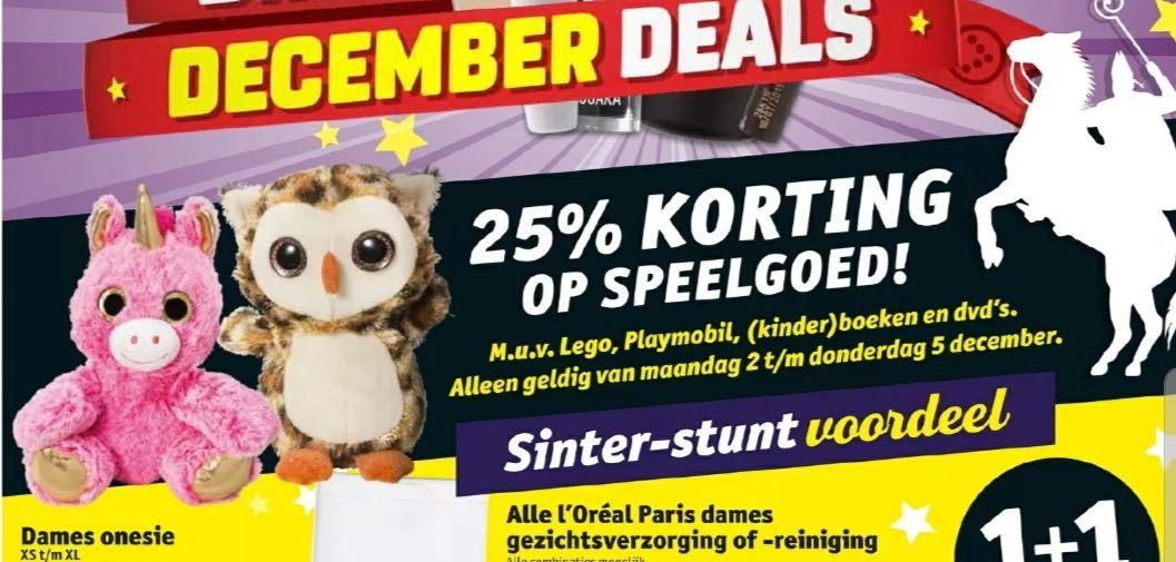 @Kruidvat. 25% korting op speelgoed, alleen op 2 dec-5dec