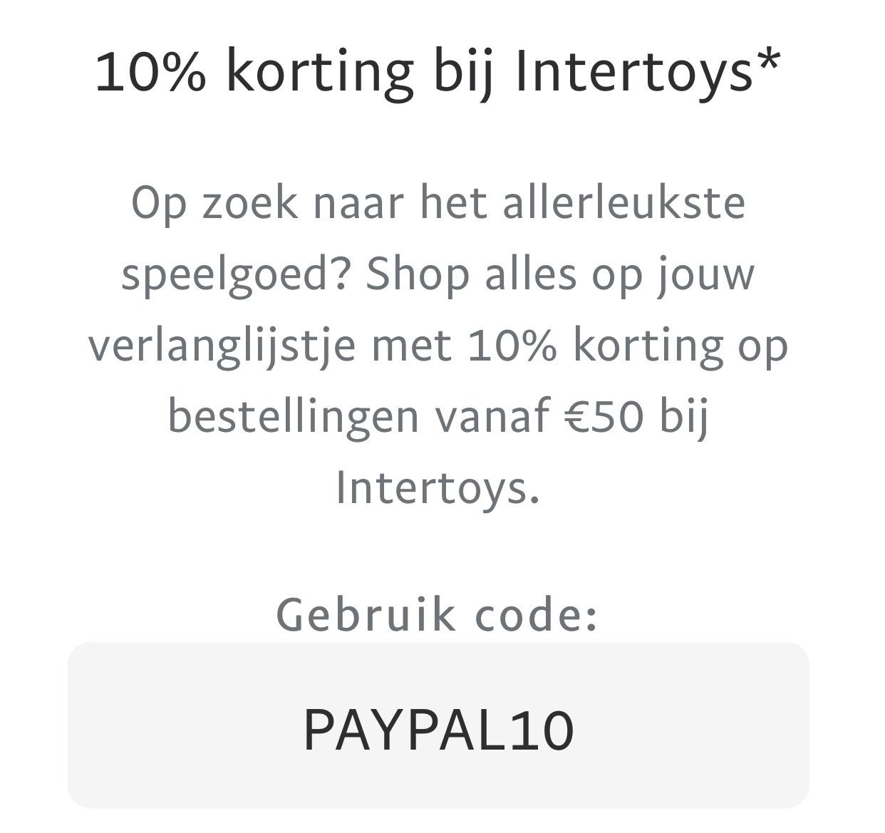 10% extra korting boven de 50 euro