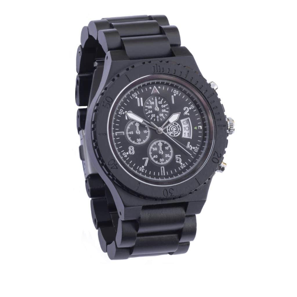 Horloge van hout (Graveren voor 1 euro)